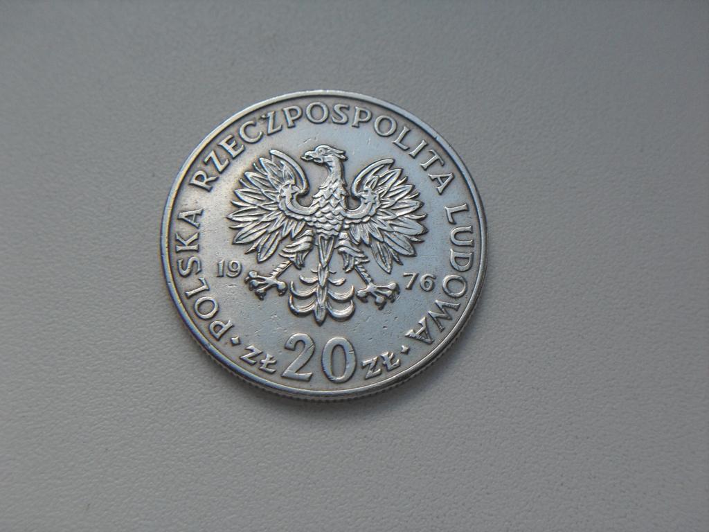 Монета 20 Злотых 1976 год Польша