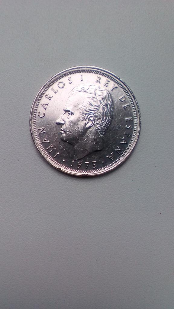 Монета 25 Песет 1975 год Испания