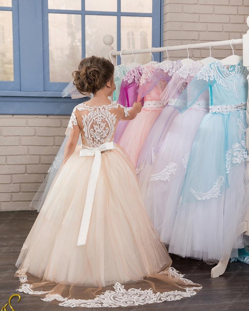 Платья детское пышное в пол