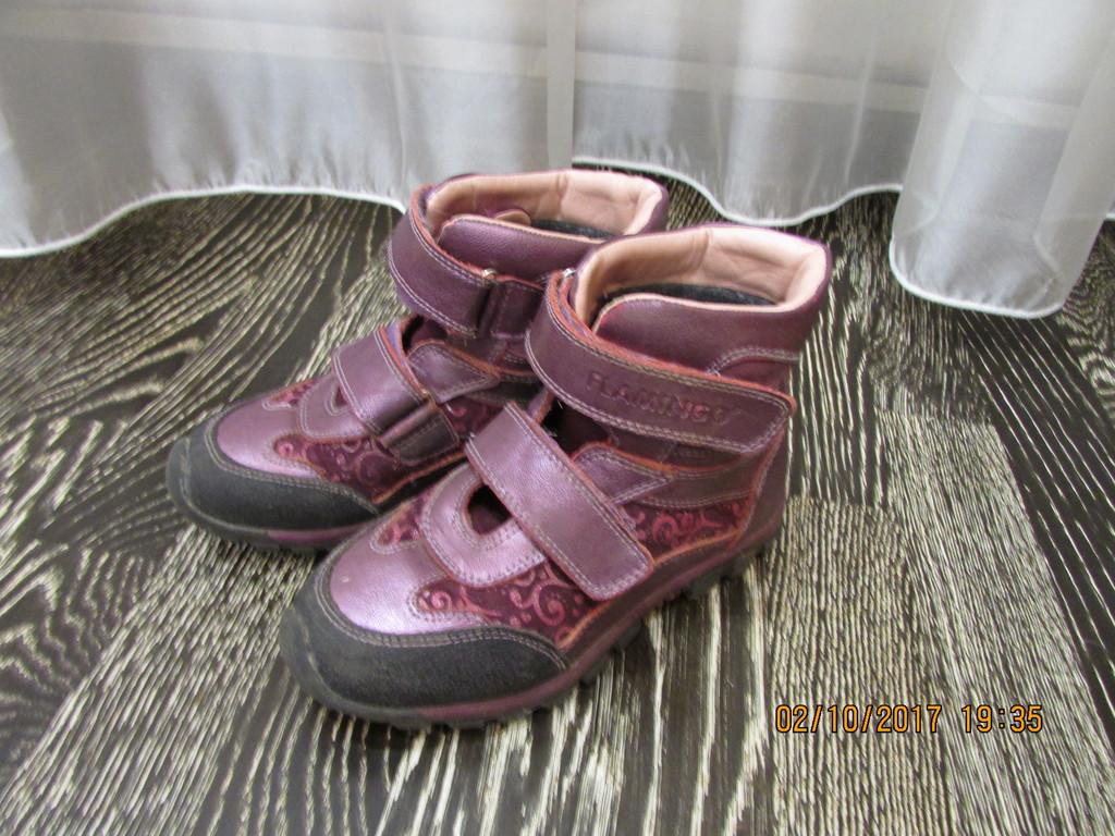 Осенние ботинки на девочку 32р
