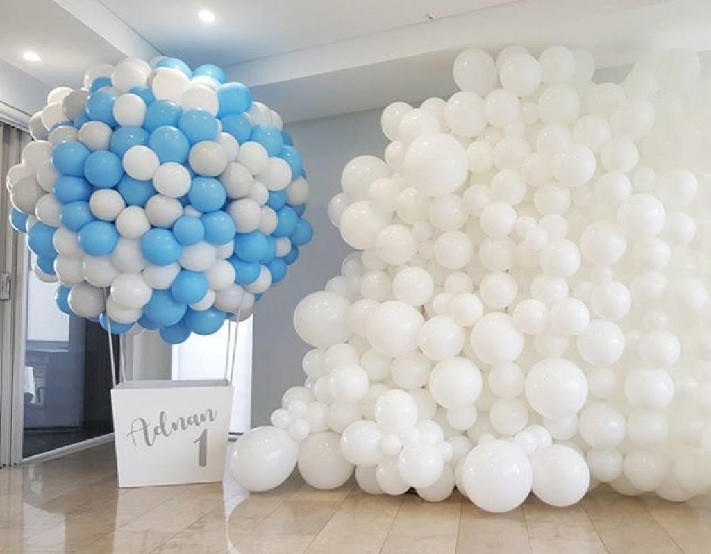 Аэростат из воздушных шаров, фотозона