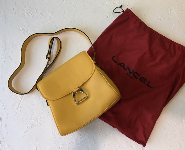 Жёлтая сумочка Lancel оригинал