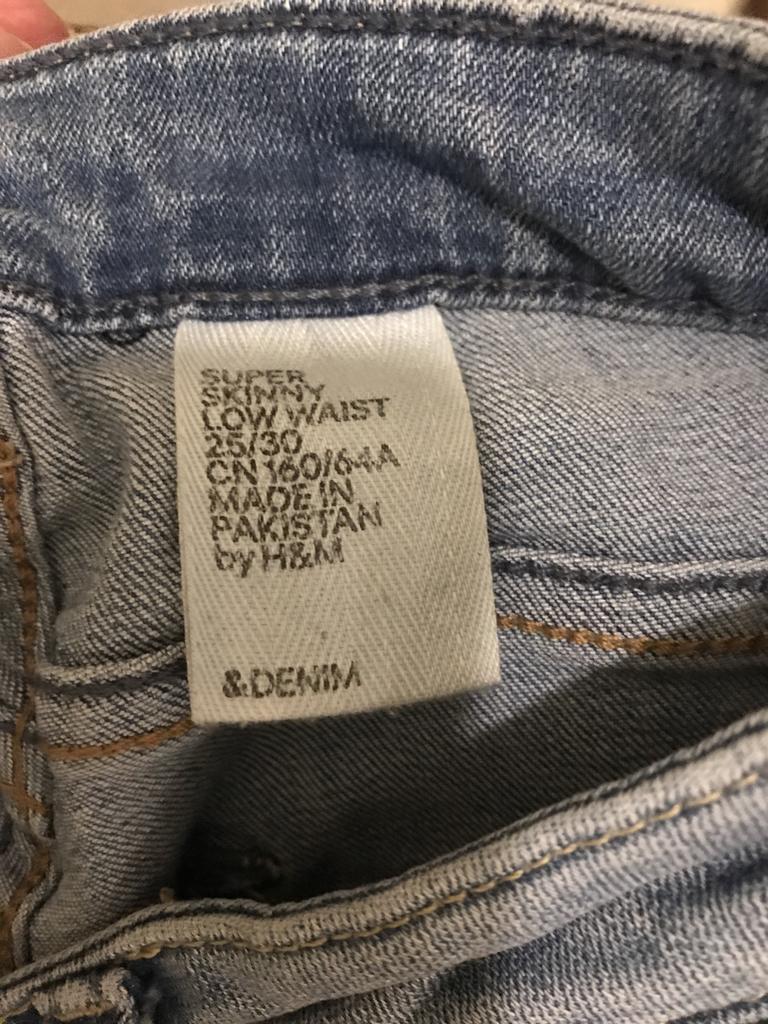 джинсы скинни с низкой талией 25размер