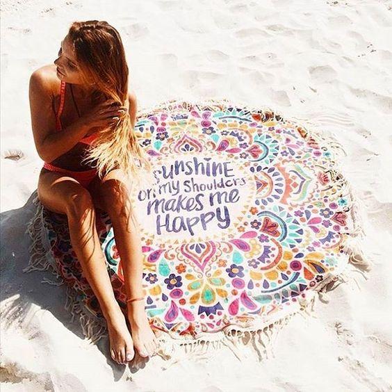Круглые пляжные полотенца в москве