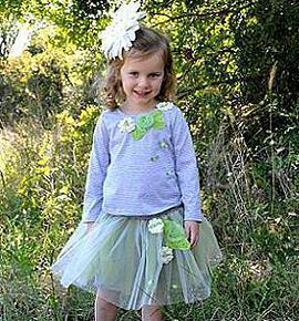 Новый комплект юбка и лонгслив (США) на 3-4 года