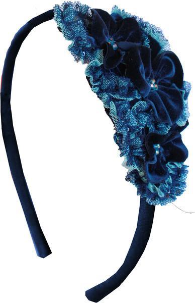 Синий Ободок с цветами Isobella & Chloe (сша)