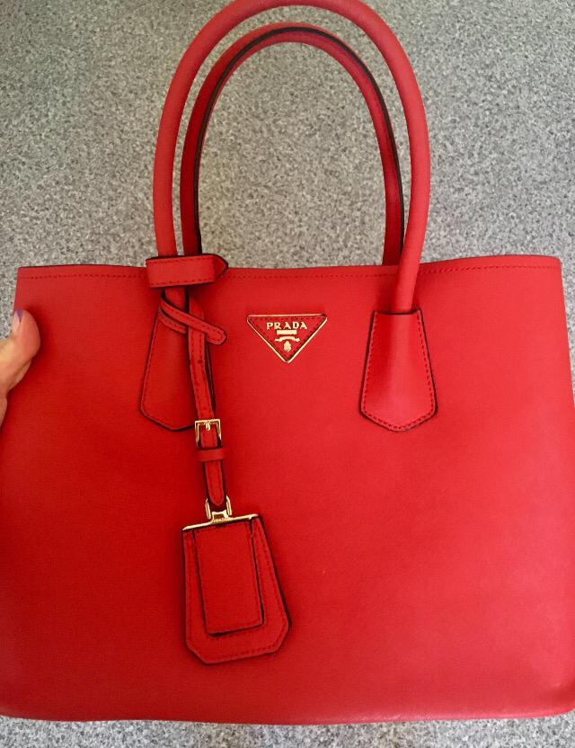 Сафьяновая сумка prada
