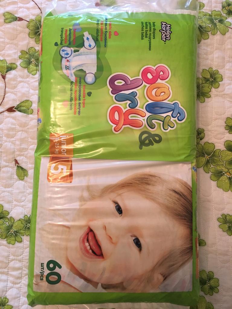 Подгузники HelenHarper(Soft&Dry) 60 шт/11-25кг/5