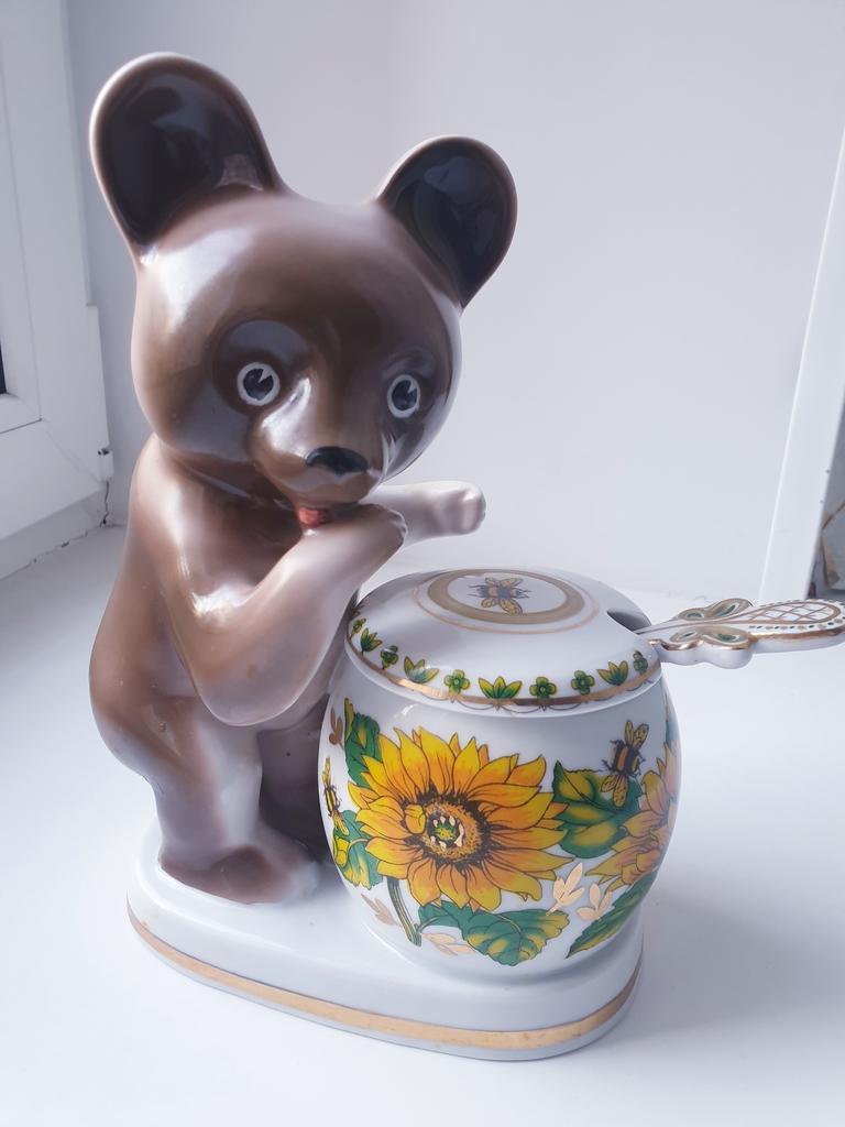 Медовница Мишка с бочонком Дулево