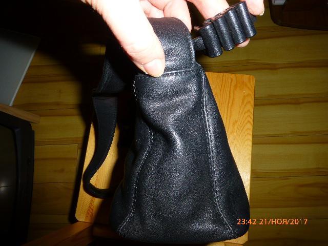 сумка из нат.кожи Palio, новая, 25х13х10,5см