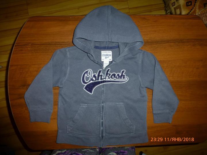 куртка-толстовка OshKosh на 4-5лет