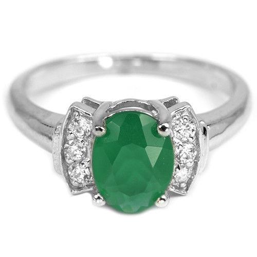 кольцо перстень серебро 925* + зел.агат+ цирконы