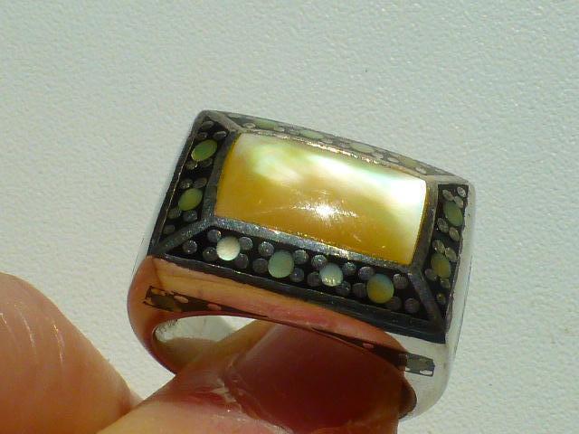 перстень серебро 925* с нат.перламутром
