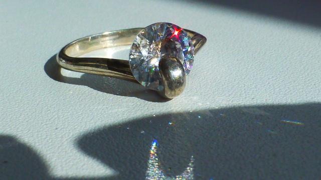 кольцо серебро 925* с цирконом