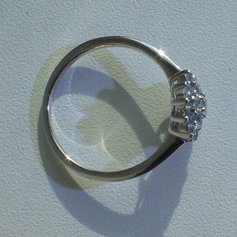 "кольцо ""Хризантема"" серебро 925* + топазы"