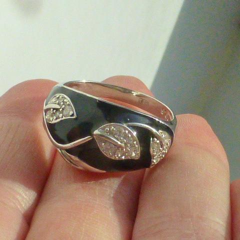 кольцо перстень серебро 925* с эмалью