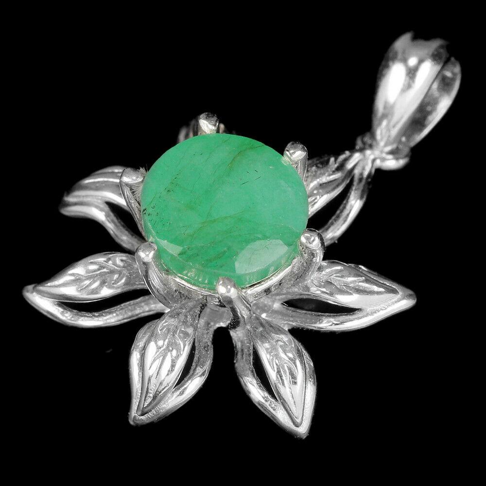серьги+кулон+кольцо серебро с изумрудом