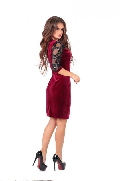 🎈Женское платье Дженни бордо👚