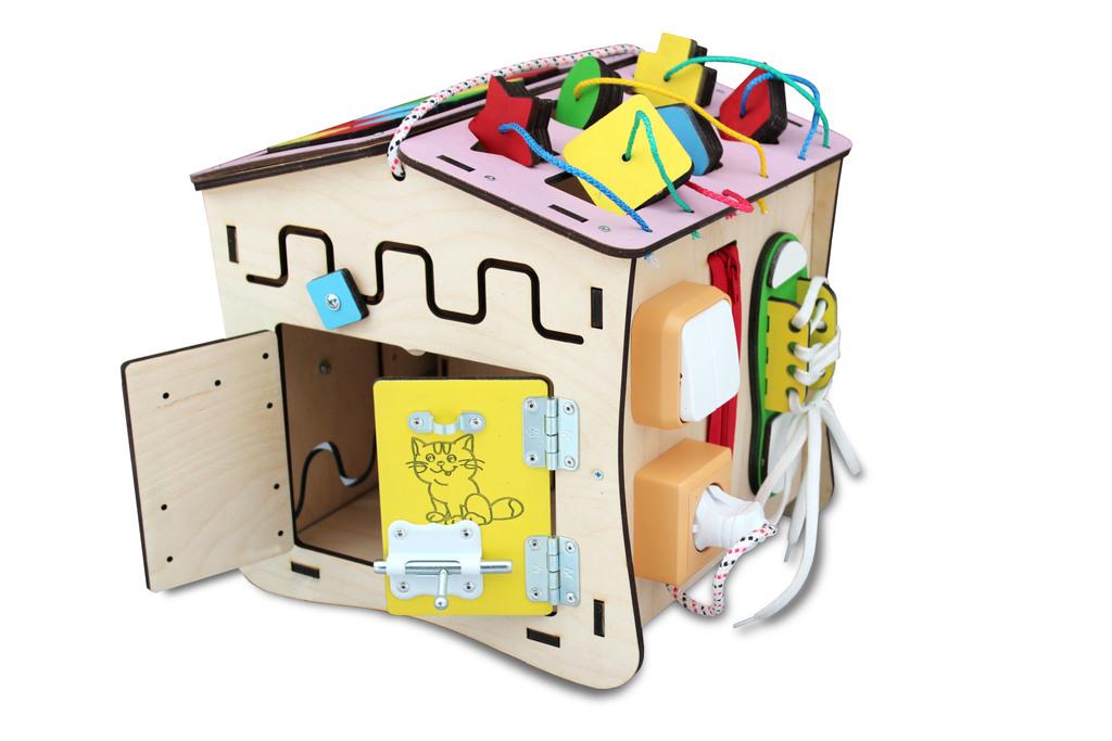"""Бизиборд домик """"Познавайка"""" развивающая игрушка"""