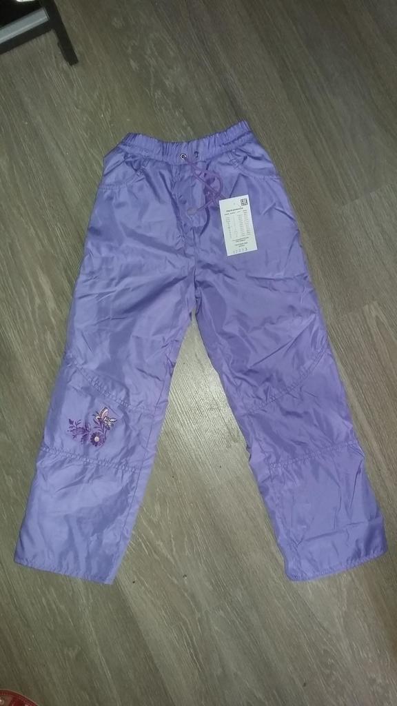 новые штаны на флисе р 122