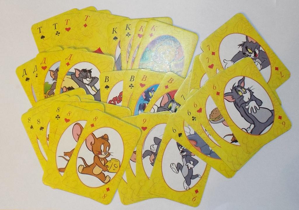 карты детские игральныесувенирные Том и Джерри