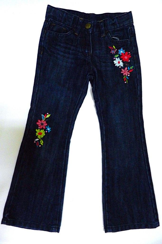 Джинсы цветы Topolino 116