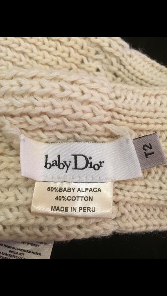 Dior варежки для малыша.