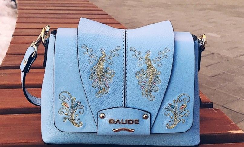 Новая красивая сумка кроссбоди из натуральной кожи