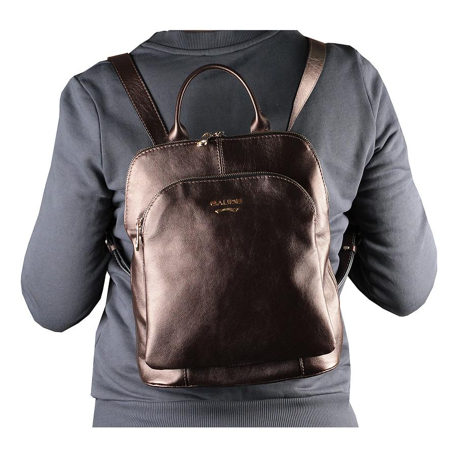Новый сильный кожаный рюкзак Италия