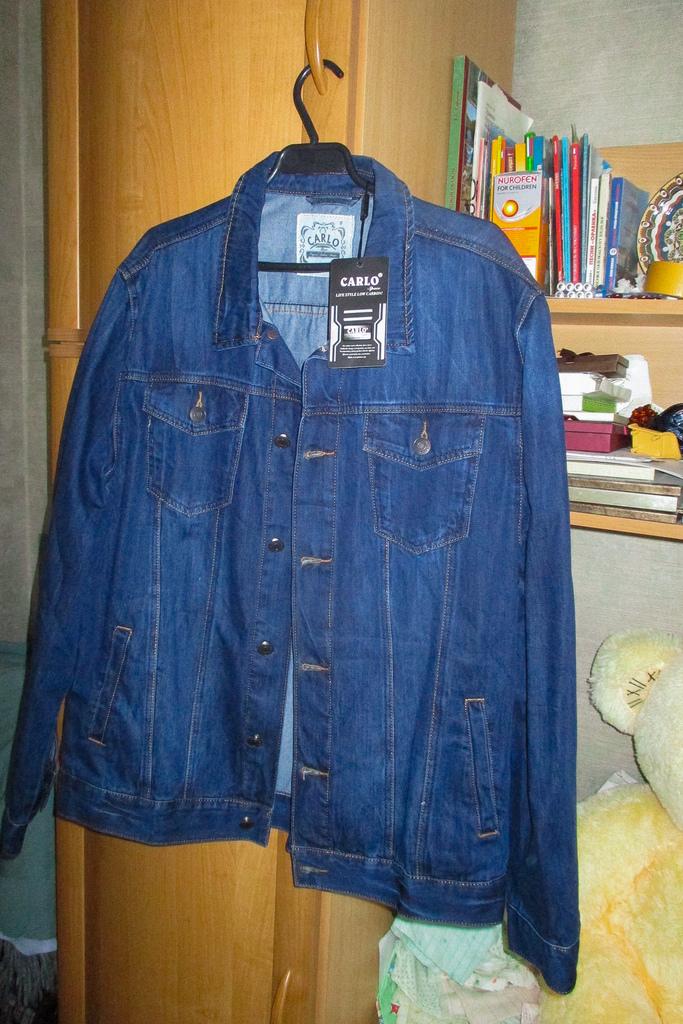 Джинсовая мужская куртка 56 р-р