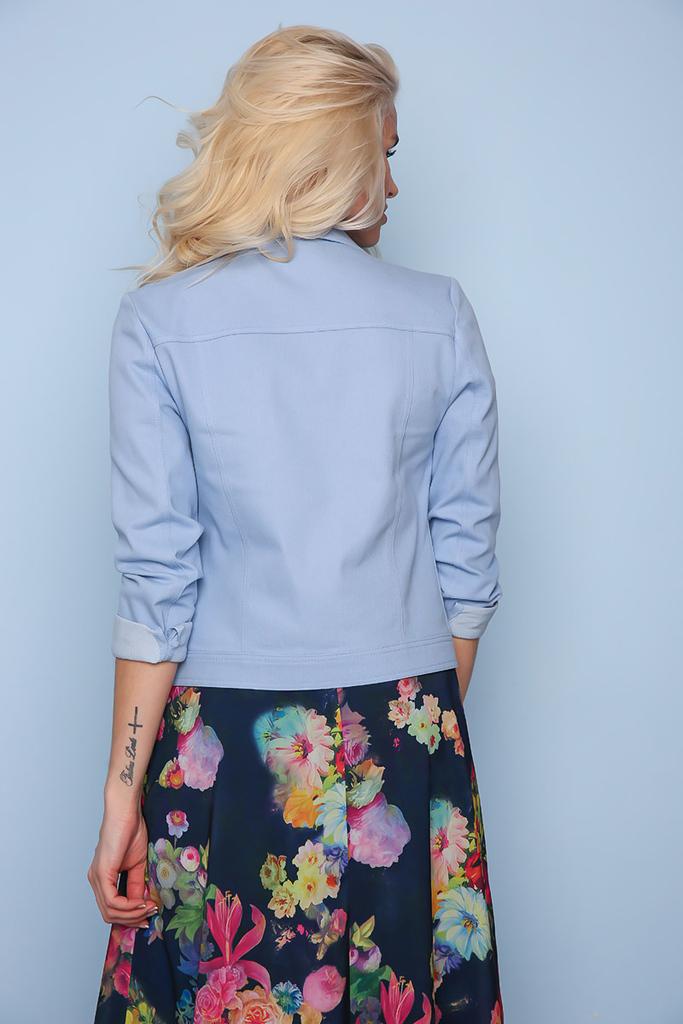 Джинсовая куртка в наличии голубая и желтая - р.44