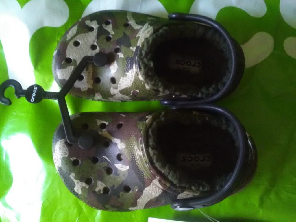 Новые меховые сабо Crocs , оригинал
