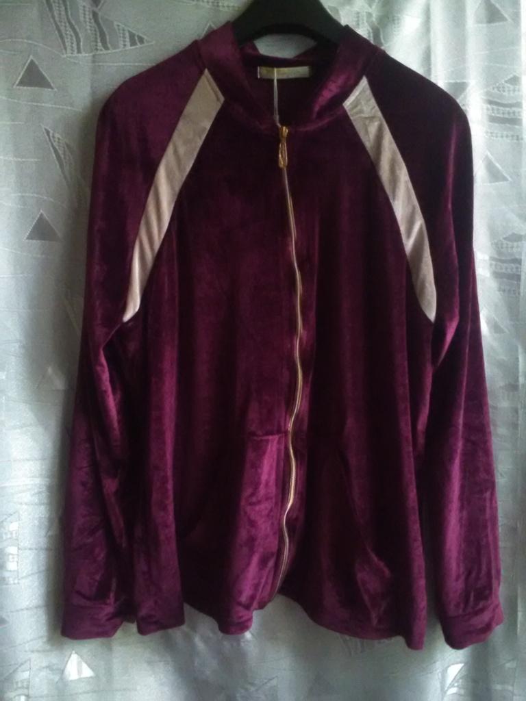 Новый спортивный костюм, велюр, цвет вишня, с ламп