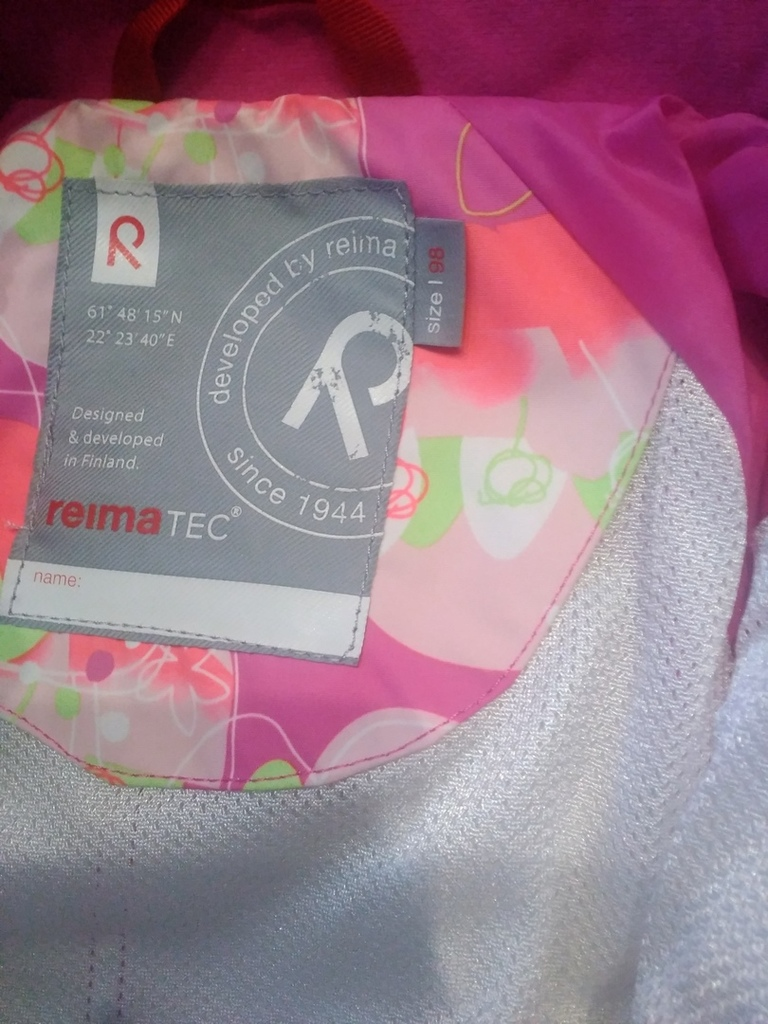 Комбенизон для девочки Reimatek Reima 98