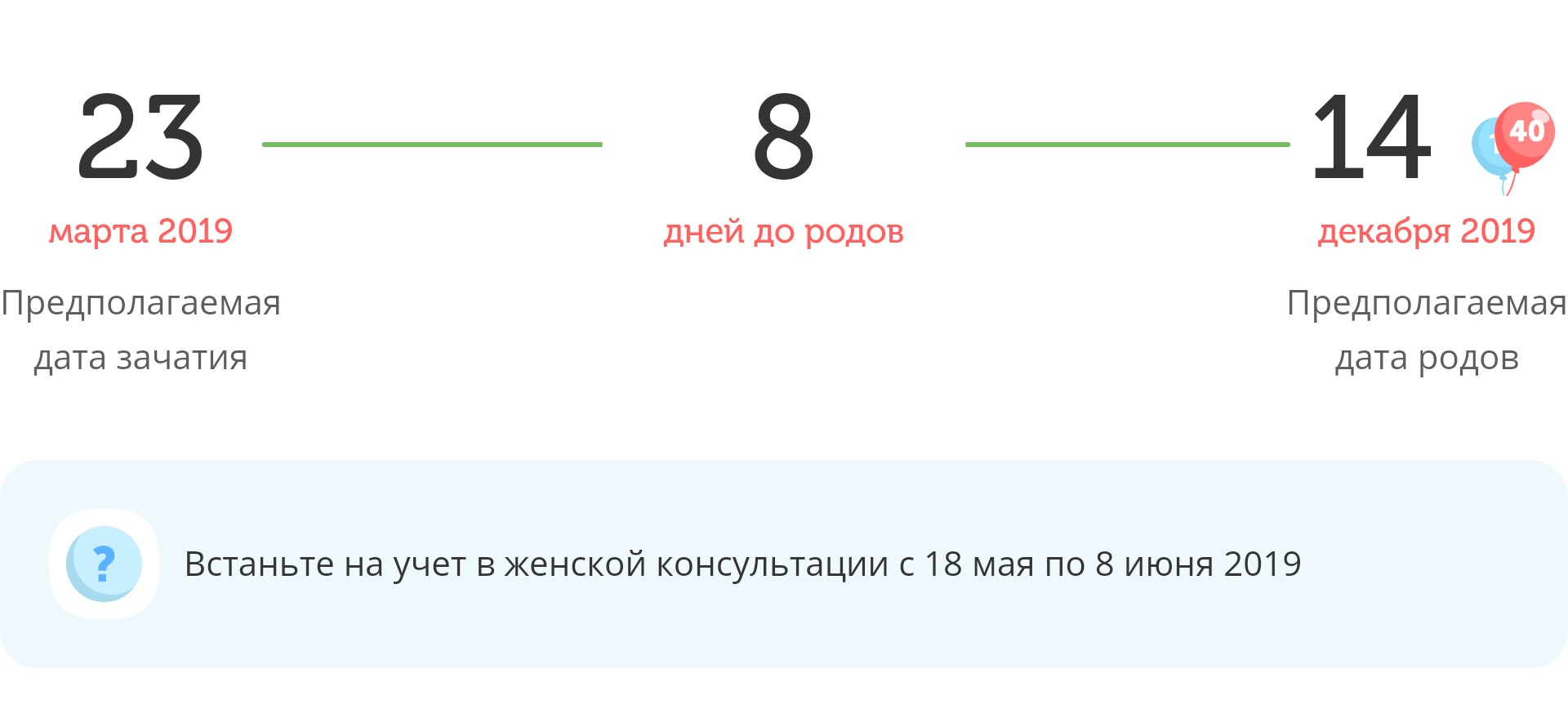 Калькулятор даты родов