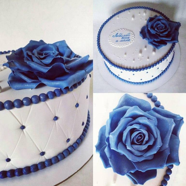 хочу торт с синей мастикой женщинами Москва Московская