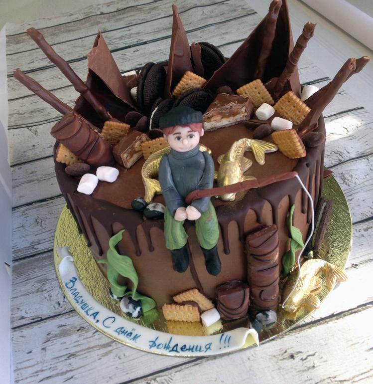 ребенок при торт для охотника украшенный мастикой фото печень сметане простое