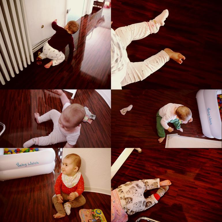 она снимает носки