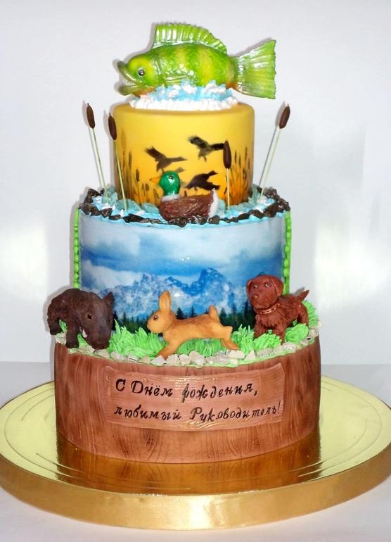 красивейшая река торт для рыбака и охотника фото картинки народе