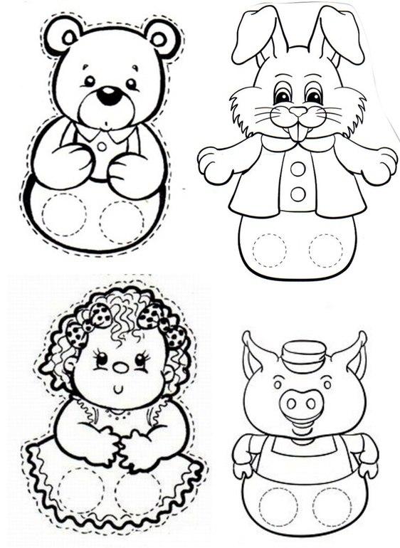 пальчиковые куклы картинки шаблоны