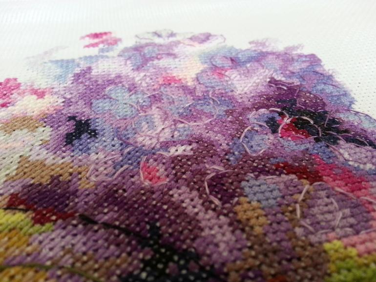 Рто вышивка гортензия