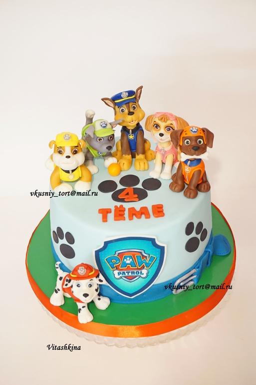 торт с фото щенячий патруль