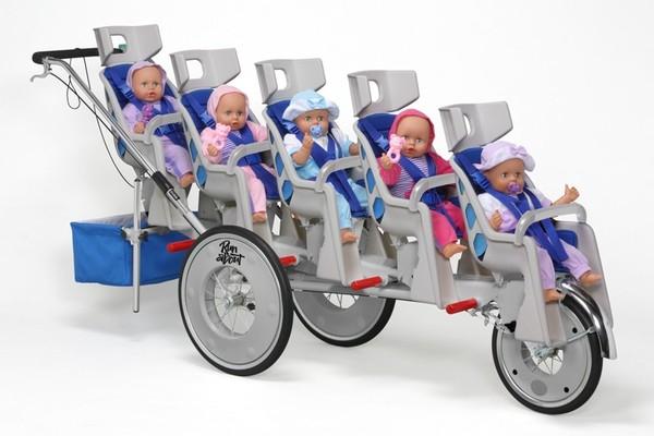 коляски для пятерняшек фото женщина устроила