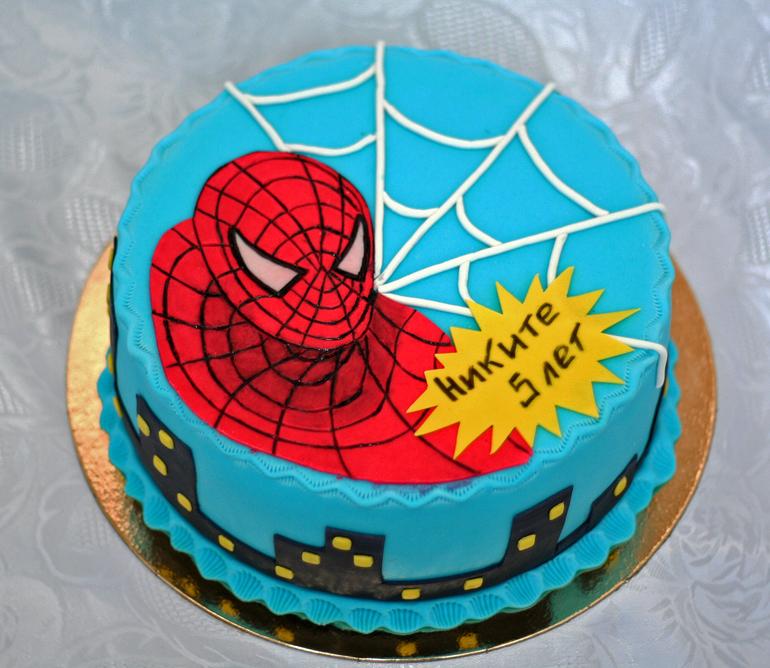 человек паук торты фото