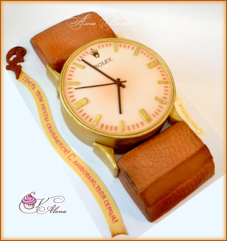 Делаем часы из мастики