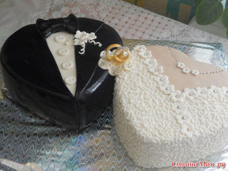 Свадебный торт сердце фото