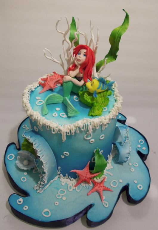 торт с русалкой ариэль картинки