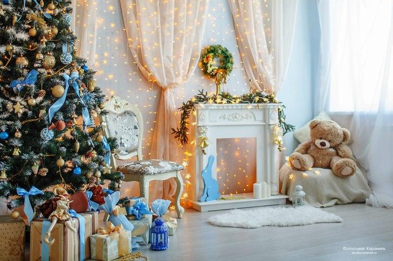всех, кто как украсить фон для новогодней фотосессии собрался муж