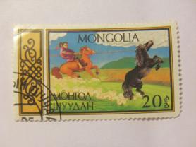 Марка 20 Монгол Шуудан Монголия 1987 год