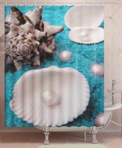 Фотоштора для ванной Жемчуг в раковине